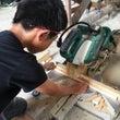 夏休み木工教室。