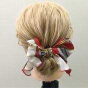 ピンなし!!スカーフで作るまとめ髪