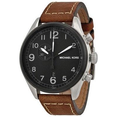 ac507c16aca0 【日本希少】正規品 Michael Kors マイケルコース HUNGER ハンガー 腕時計 メンズ MK7068 ブラウン レザー ブラック