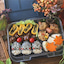 栗の飾り巻き寿司弁当〜秋の旬菜バイキング♪〜