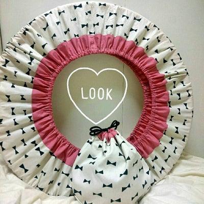 ハンドメイド☆フープカバーの作り方 リボン×ピンク バイカラーの記事に添付されている画像