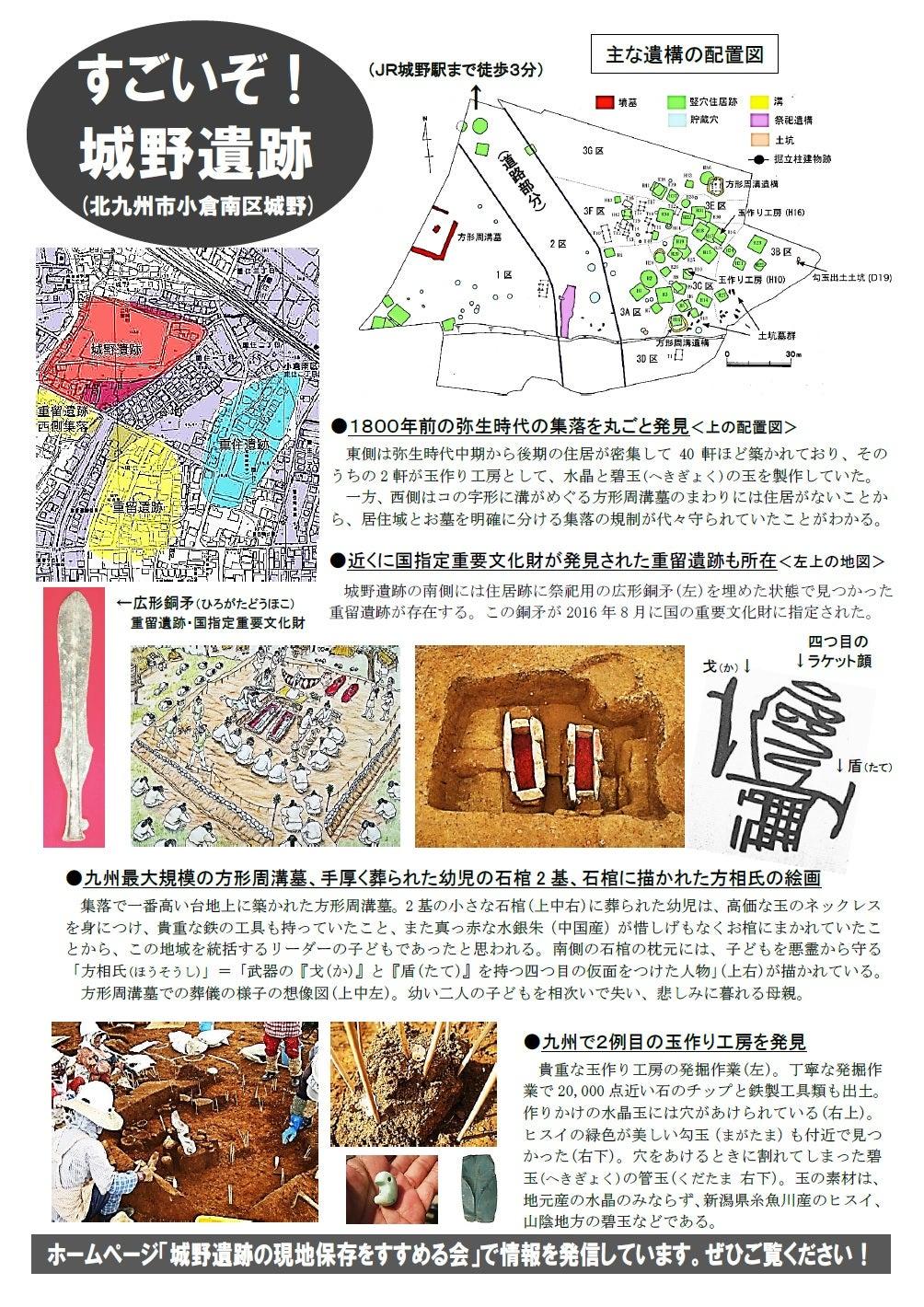 「城野遺跡公園の実現」を求めて陳情署名を提出しました!の記事より
