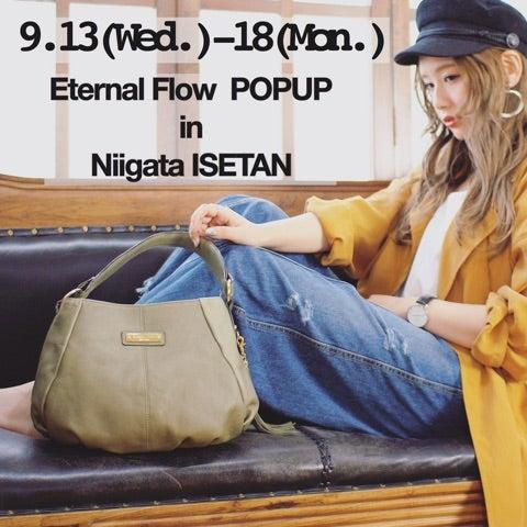 好評開催中!Eternal Flow ポップアップ in 新潟伊勢丹