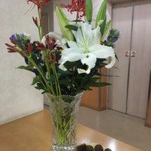 受付のお花&行事♪♪…
