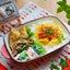 JK♡ミニ海老チリ丼お弁当。