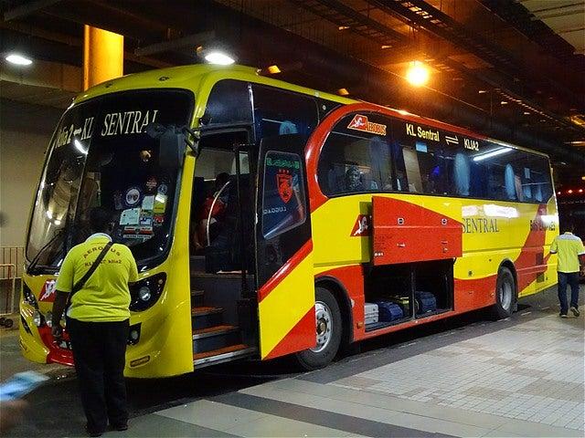 世界バス轉運站SKYBUS KLセントラル駅→KLIA2(クアラルンプール国際空港行き空港バス)