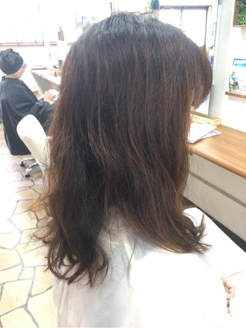 毛流を整える骨格修正カットとカラー