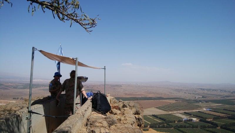 イスラエルの最前線…ゴラン高原…...