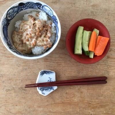 家ランチ、納豆ご飯の記事に添付されている画像