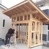 手づくり物置 武豊町外構工事の画像