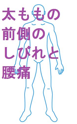 太ももの前側のしびれと腰痛