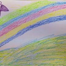 蝶々と虹のメッセージ…