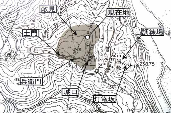 【図】波木井城