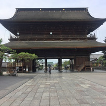 善光寺からの松本城観…