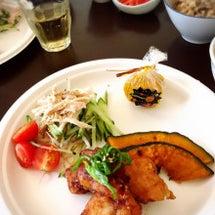 鮭の竜田揚げに野菜た…