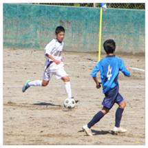 長男のサッカー新人戦…
