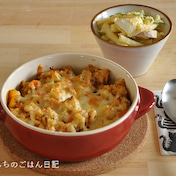 【一汁二菜10分ごはん】週末はラクチンに♪焼きチーズカレーごはん献立