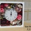 結婚式の思い出を時計…