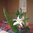 つぶつぶの花材を丁寧…