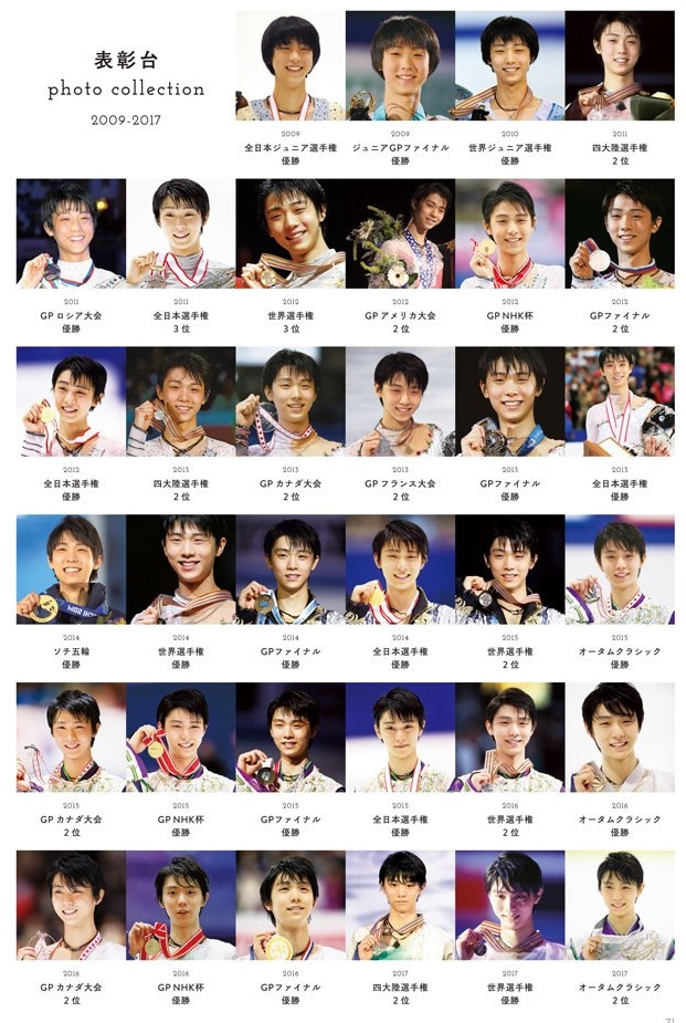 表彰台 Figure Skating Photo Book 2017-2018
