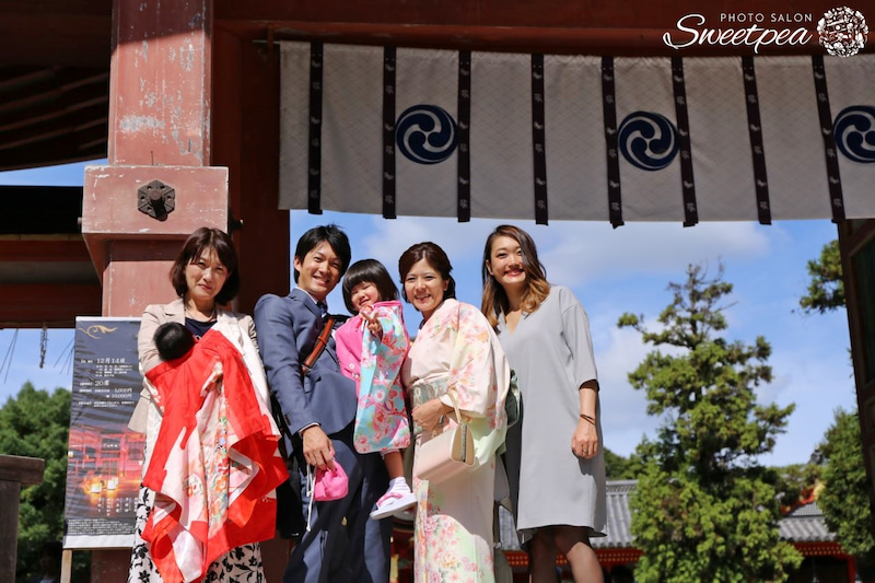 七五三 お宮参り 家族 写真 撮影 関西 神社 出張