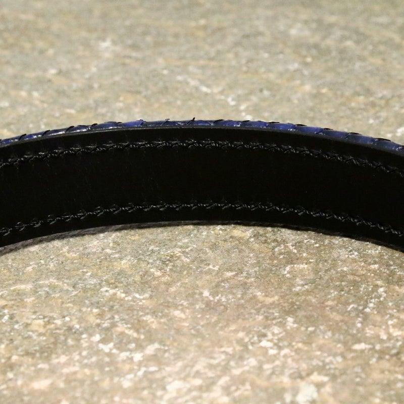 snake pit leather works スネークピットレザーワークス ブレスレット 革 パイソン シルバー