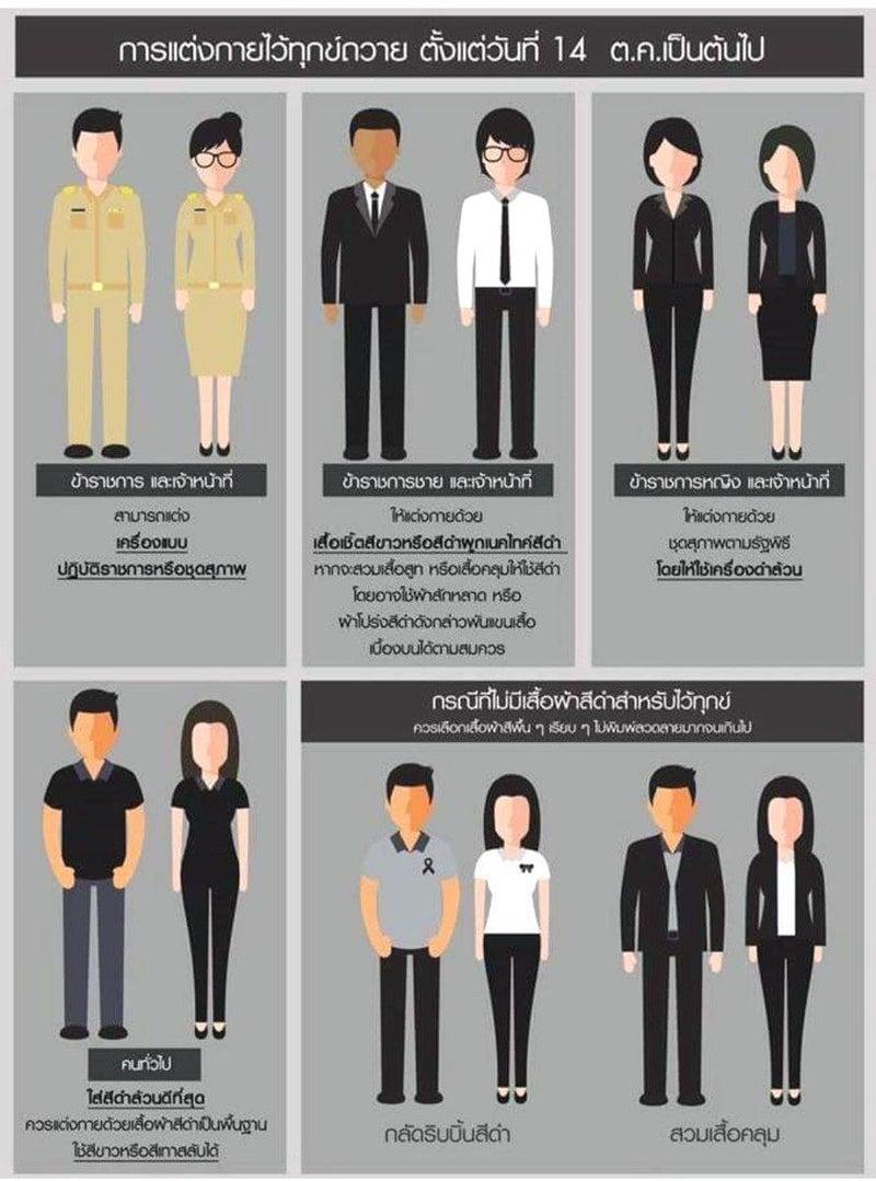 10月の服装規定 | バンコクジジ...