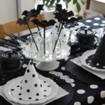ハロウィンのテーブル…