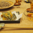 ざる蕎麦と天ぷら