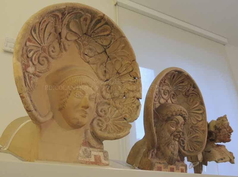 ローマのエトルリア博物館展示の...