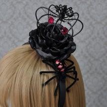 蜘蛛の黒薔薇クラウン…