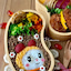 《キャラ弁》そぼろと炒り卵でドラミちゃん♡作り方