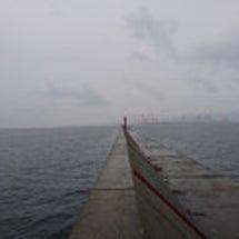大阪湾の超有名沖堤防…