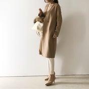 【coordinate】高見えなUNIQLOダブルフェイスノーカラーコート/UNIQLOベビー服