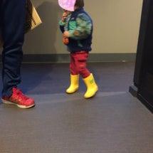 長靴で初めてのお出掛…