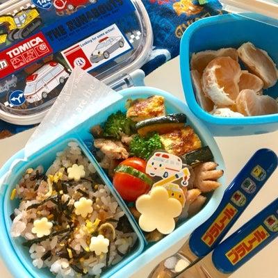息子の幼稚園弁当 50個目のお弁当 寝る前の子供達の記事に添付されている画像