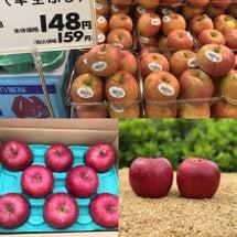 市販のリンゴと樹上完…