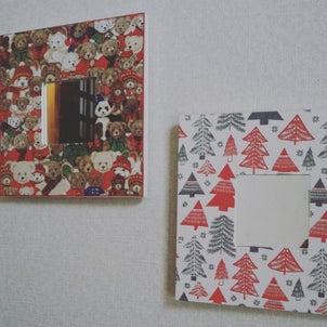 デコパージュクリスマスミラー。の画像