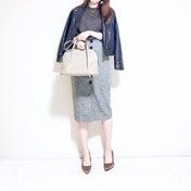 【UNIQLO】1,500円以下♡美脚効果抜群のタイトスカート×メンズニット