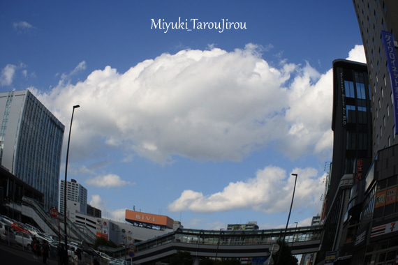青空と雲 仙台駅東口