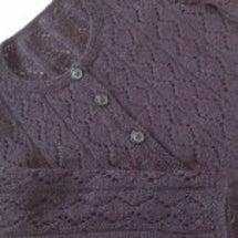 手編み カーディガン…