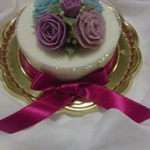 お餅と餡のお花ケーキ…