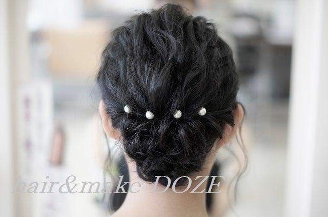 結婚式参列のヘアメイク。
