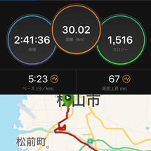 昨日は30km走!