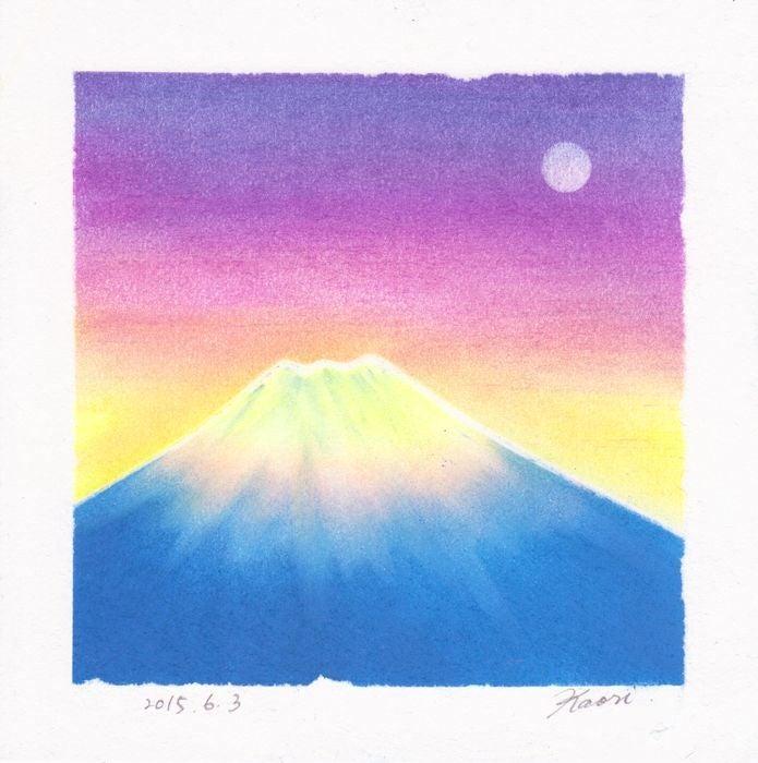 富士山☆パステル和アート