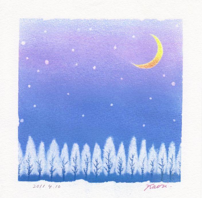 冬木立☆パステル和アート