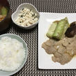 豚肉の生姜焼きとソー…