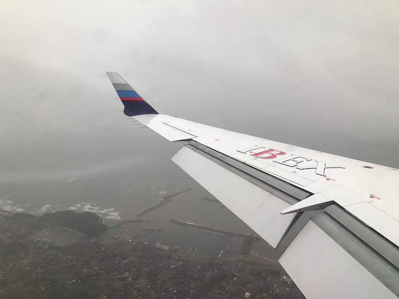 福岡飛行機・台風