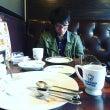 幸福な朝食、うどんの…