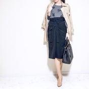 タイトスカートのヒップラインが激変?!アンサンブル×スカートで上品&快適両立コーデ